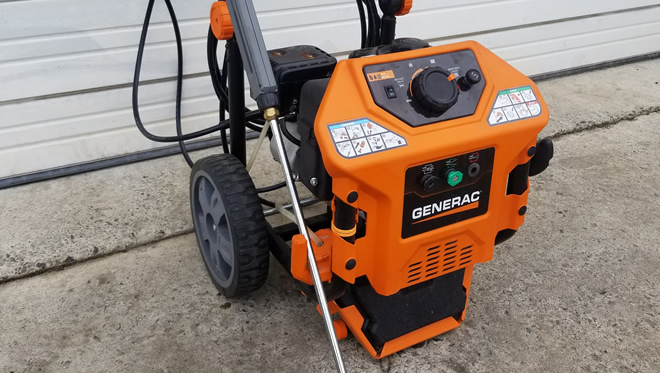 generac gas powered pressure washer